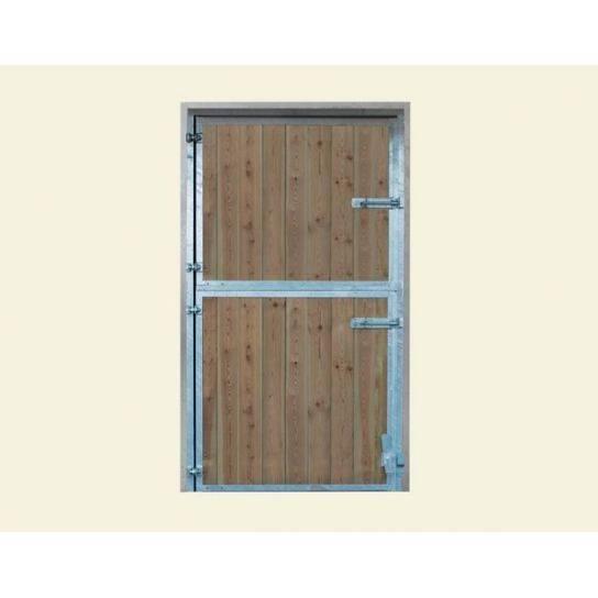 Puerta box exterior pino y acero galvanizado le galop - Puerta de acero galvanizado ...