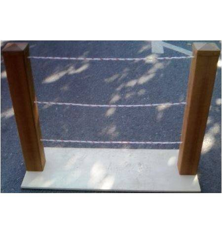 Poste PVC Para Cordón Imitación Madera